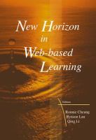 Cover image for New horizon in web-based learning : proceedings of the third international conference on web-based learning