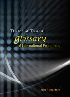 Cover image for Terms of trade : glossary of international economics