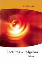 Cover image for Lectures on algebra