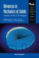 Cover image for Advances in mechanics of solids : in memory of Prof. E. M. Haseganu