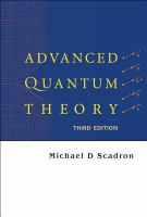Cover image for Advanced quantum theory