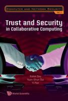 Cover image for Trust and security in collaborative computing