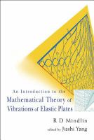 Cover image for An introduction to the mathematical theory of vibrations of elastic plates