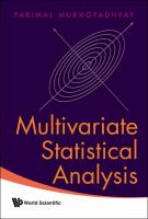Cover image for Multivariate statistical analysis