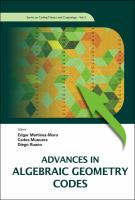Cover image for Advances in algebraic geometry codes