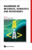 Cover image for Handbook of metadata, semantics and ontologies