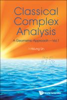 Cover image for Classical complex analysis : a geometric approach