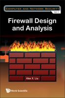 Cover image for Firewall design and analysis /cAlex X. Liu