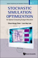 Cover image for Stochastic simulation optimization : an optimal computing budget allocation