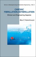 Cover image for Cardiac fibrillation-defibrillation : clinical and engineering aspects