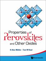 Cover image for Properties of perovskites and other oxides