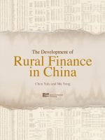 Cover image for The development of rural finance in China