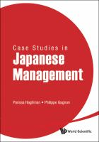 Cover image for Case studies in Japanese management