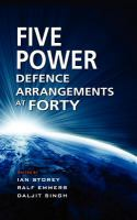 Cover image for Five power defence arrangements at forty