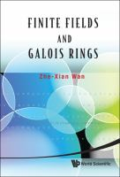 Cover image for Finite fields and Galois rings