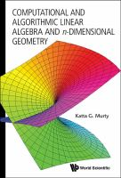 Cover image for Computational and algorithmic linear algebra and N-dimensional geometry