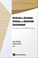 Cover image for Methods for decision making in an uncertain environment : proceedings of the XVII SIGEF Congress, Reus, Spain, 6-8 June 2012
