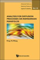 Cover image for Analysis for diffusion processes on Riemannian manifolds