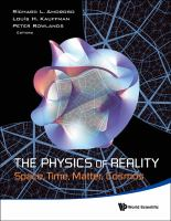 Cover image for The physics of reality : space, time, matter, cosmos : proceedings of the 8th symposium honoring mathematical physicist Jean-Pierre Vigier, Covent Garden, London, UK, 15 -18 August 2012