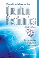 Cover image for Solution manual for Quantum mechanics