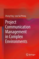 Cover image for Project communication management in complex environments