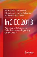 Cover image for InCIEC 2013 : proceedings of the International Civil and Infrastructure