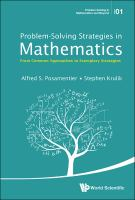Cover image for Problem-solving strategies in mathematics : from common approaches to exemplary strategies