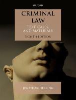 Cover Art - Criminal law
