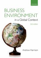 Cover of Business Environment in a Global Context