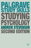 Cover of Studying Psychology