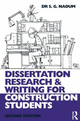 Cover of  Dissertation research and writing for construction students