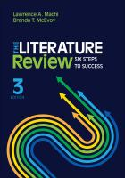 Cover of The Literature Review : six steps to success