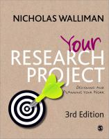 Cover of Your Research Project : designing and planning your work