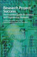 Cover of  Research project success : the essential guide for science and engineering students