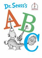 Cover image for Dr. Seuss's ABC.