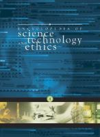 Cover image for Encyclopedia of science, technology, and ethics