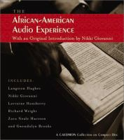 Cover image for The African American audio experience : a Caedmon audio collection