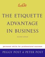 Cover image for Emily Post's The etiquette advantage in business : personal skills for professional success