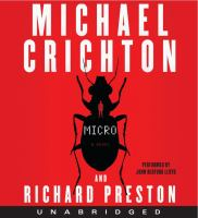 Cover image for Micro : a novel