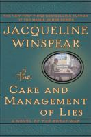 Cover image for The care and management of lies : a novel of the Great War