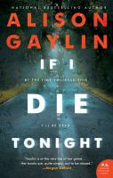 Cover image for If I die tonight