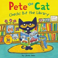Cover image for Pete the cat checks out the library