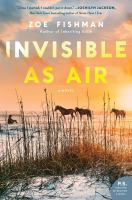 Cover image for Invisible as air : a novel