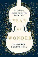 Cover image for Year of wonder : classical music to enjoy day by day