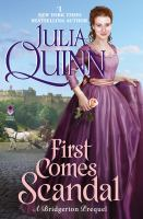 Cover image for First comes scandal : a Bridgerton prequel