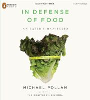 Cover image for In defense of food