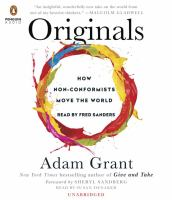 Cover image for Originals : how non-conformists move the world