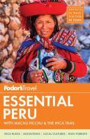 Cover image for Fodor's essential Peru