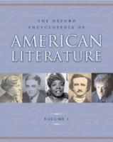 Cover image for The Oxford encyclopedia of American literature