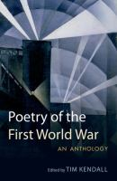 Cover image for Poetry of the First World War : an anthology